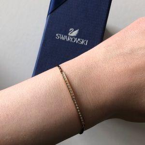 Swarovski dainty gold, crystal bracelet
